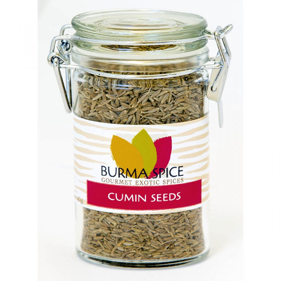 Burma Spice 1.5 ounce bottle gourmet whole cumin seeds.