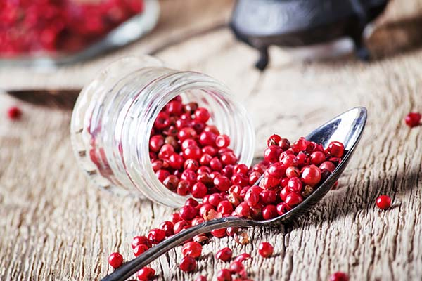 Pink Peppercorns spilling over
