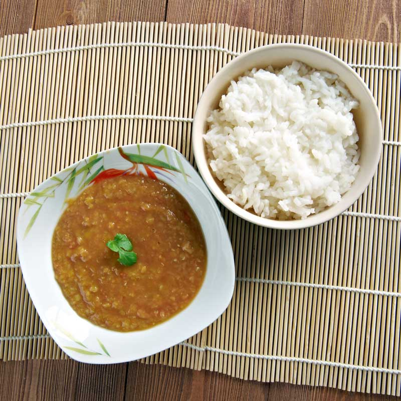 Dal Bhat (Nepali Lentils and Rice)