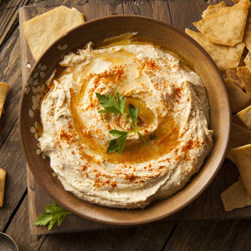 Get Middle Eastern cuisine recipe for classic Levantine hummus from Burma Spice.