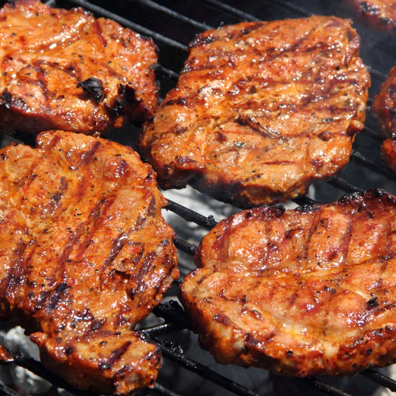 Schwenkbraten (Marinated and Grilled Pork Steaks)